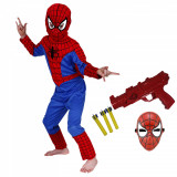 Set costum Spiderman si pistol pentru baieti