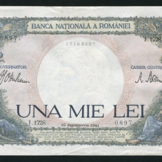 u554 ROMANIA 1000 LEI 1941 aUNC APROAPE NECIRCULATA