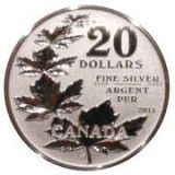 Canada 20 Dollars 2011- ( Maple Leaf) Argint 7.96g-999, Sbs1 KM-1062 UNC !!!, America de Nord