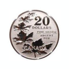 Canada 20 Dollars 2011- ( Maple Leaf) Argint 7.96g-999, Sbs1 KM-1062 UNC !!!