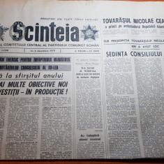 ziarul scanteia 6 decembrie 1979-sedinta consiliului de stat