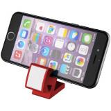 Suport telefon multifunctional, Everestus, STT138, plastic, rosu, laveta inclusa