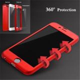 Husa din acril si folie de sticla securizata pentru iPhone 7/7 Plus/6/6 Plus/8/8 Plus/X