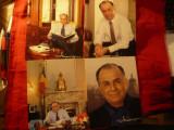 4 Fotografii Electorale -Presedintele Ion Iliescu, autograf tiparit , dim17x21cm
