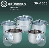 Set 5 Oale din Inox Capac Sticla Grunberg GR1053