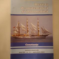 Revista de matematică și informatică, Constanța