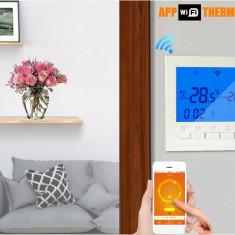 intrerupator termostat wifi ecran lcd 220V wireless pardoseala centrala