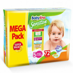 Scutece Babylino Sensitive Megapack Junior N5 72 buc