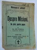 Despre misiuni, de stiut pentru popor de Dr. Gh. Fireza Lugoj 1924
