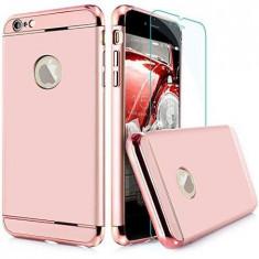 Set Complet Iphone 6 Plus/6S Plus360° Ultrasubtire Rose + Folie Sticla