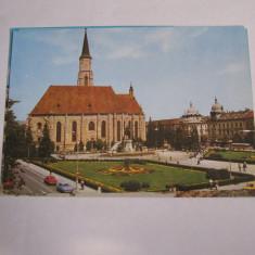 Carte postala - Cluj Napoca (Piata Libertatii), Necirculata, Fotografie
