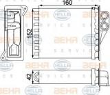 Radiator incalzire interior MERCEDES SPRINTER 3-t caroserie (906) (2006 - 2016) HELLA 8FH 351 313-591
