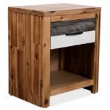 Noptieră din lemn masiv de acacia, 40 x 30 x 48 cm