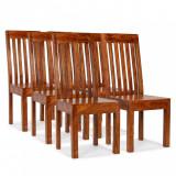 vidaXL Scaune de masă 6 buc. lemn masiv, finisaj palisandru, modern