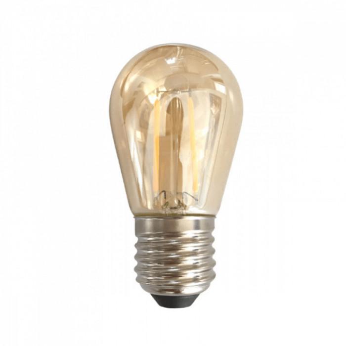 Bec LED Filament Amber E27 2W 200LM 2500K ST45