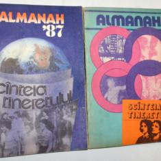 Lot 2 x Almanah Scanteia Tineretului 1987, 1988