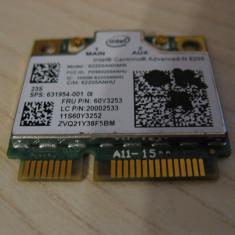 Placa wireless laptop Lenovo L530, Intel Advanced-N 6205, 60Y3253, 631954-001