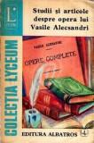 Studii si articole despre opera lui Vasile Alecsandri
