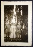 P.125 FOTOGRAFIE RAZBOI WWII OFITERI GERMANI WEHRMACHT 9,5/6,8cm