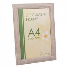 Rama foto, model pentru A4, 21×29,7 cm, crem