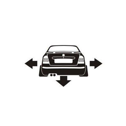 Stickere auto Skoda spate low