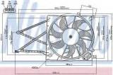 Ventilator, radiator OPEL ASTRA G Cupe (F07) (2000 - 2005) NISSENS 85176
