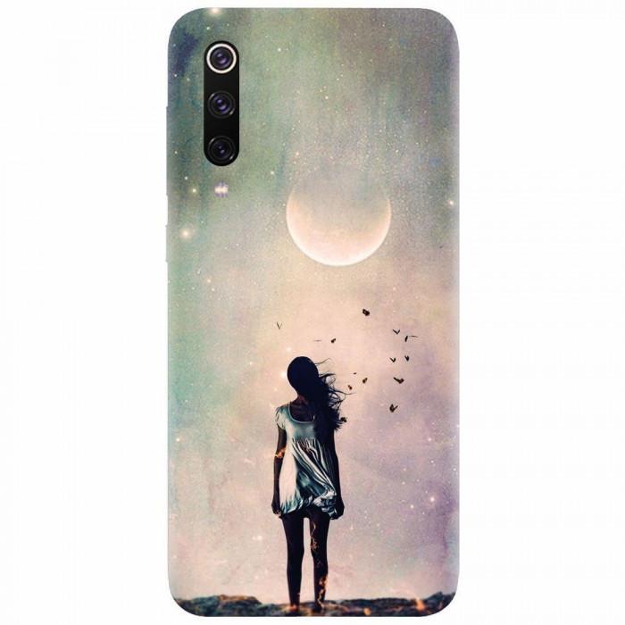 Husa silicon pentru Xiaomi Mi 9, Alone Woman Cgi Hd K