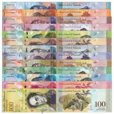 VENEZUELA – SET COMPLET -  2 - 100 000 - BOLIVARES - 13 BANCNOTE -  NECIRCULATE