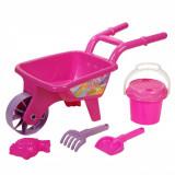 Roaba cu accesorii pentru nisip, 5 buc, 50x24x28cm, roz