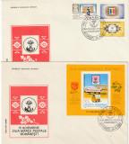 Romania 1983,FDC,Ziua Marcii Postale Romanesti , seria si colita