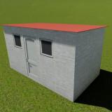 Casuta modulara din lemn pentru gradina (L) 4.00m x (l) 2.25m x (H) 2.20m