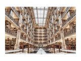 Cumpara ieftin Tablou Sticla Library, 120 x 80 cm