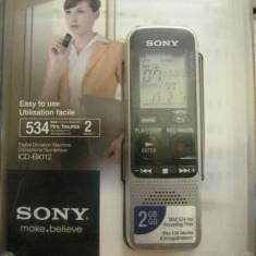 Reportofon digital SONY ICD-BX112, 2GB, argintiu