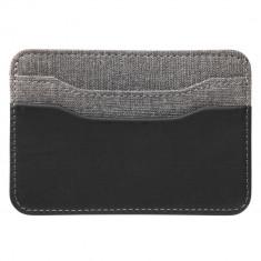 Portcard cu 5 compartimente, Everestus, HD, thermo pu, negru, 72x60x105 mm, lupa de citit inclusa