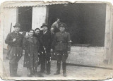 Fotografie vanator si militar roman poza veche romaneasca interbelica