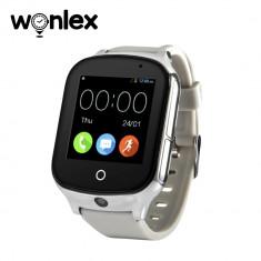 Ceas Smartwatch Wonlex GW1000S cu Functie Telefon, Localizare GPS, Camera, 3G, Pedometru, SOS, Android - Argintiu