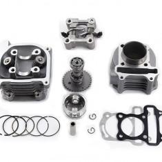 Kit Cilindru Set Motor + Chiuloasa Scuter Baotian - Bautian 4T 80cc 47mm