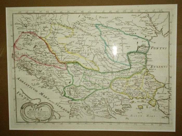 Dacia, Panonia, Illyris, Moesia, Thracia, Sanson Filio 1654