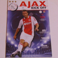 Program meci fotbal AJAX AMSTERDAM-OLYMPIQUE LYON(Champions League 14.09.2011)