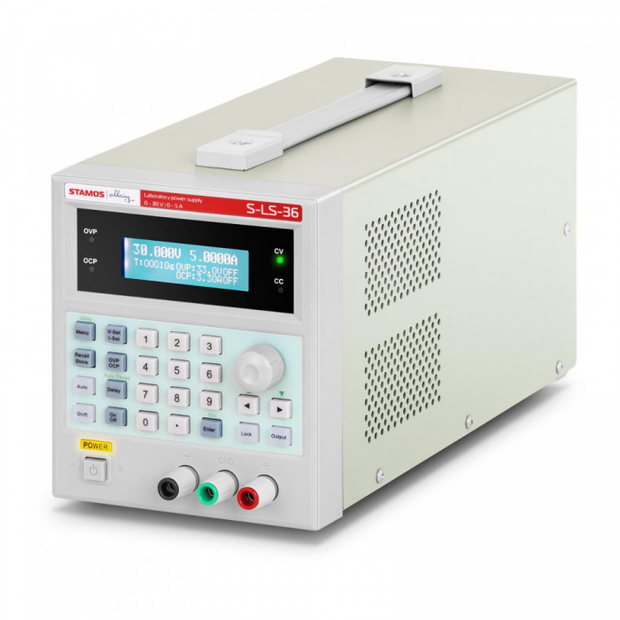 Sursa tensiune de laborator 0-30V 0-5A DC 150 W USB 100 memorii 10021066 Stamos Soldering