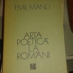 ARTA POETICA LA ROMANI-EMIL MANU