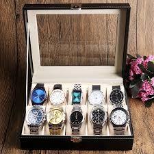 Cutie Caseta Depozitare pentru 10 Ceasuri – cadoul ideal foto
