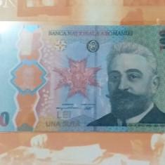 Bancnota Polimer, 100 lei 2019 Desavarsirea Marii Uniri I I C. Bratianu