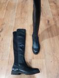 LICHIDARE STOC! Superbe cizme dama noi piele +strech foarte comode si usoare 37