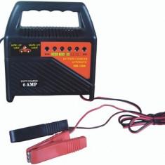 Redresor Incarcator Auto Baterii cu Plumb 12V 6A 230V 80W cu LED Indicator Incarcare si Protectie