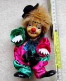 Cumpara ieftin Papusa clown cu cap din portelan.Vintage.