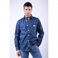Geaca Blugi Lunga Jack&Jones Utility Overshirt Blue Denim