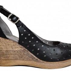 Pantofi dama perforati cu talpa ortopedica Ninna Art 177