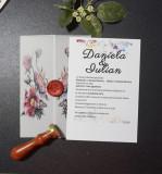 Invitatie nunta cu sigiliu OPIS044
