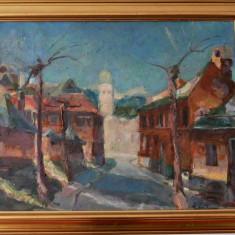 Pictura Baia Mare, Ion Les, Peisaje, Ulei, Impresionism